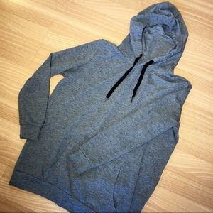 Cotton On speckled gray long line spring hoodie